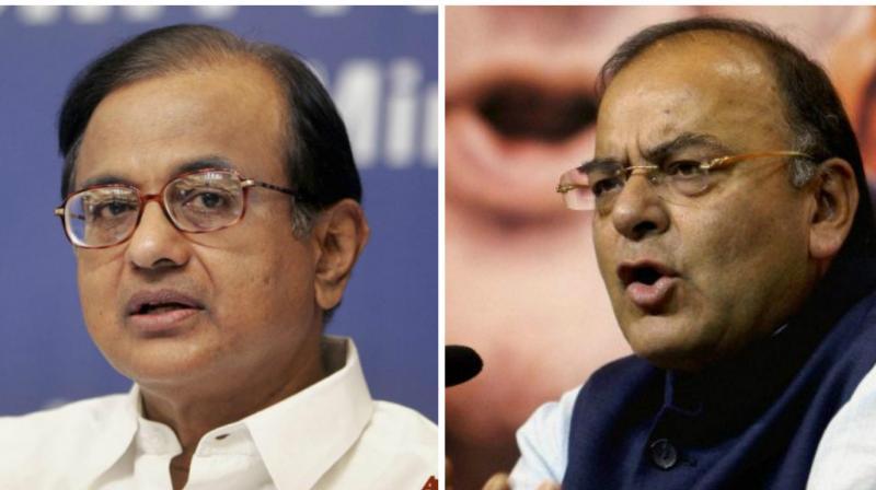 FM Arun Jaitley and P. Chidambaram
