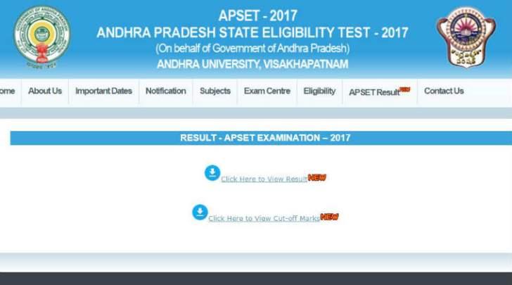 APSET, APSET Results, APSET Results 2017, AP SET Results 2017