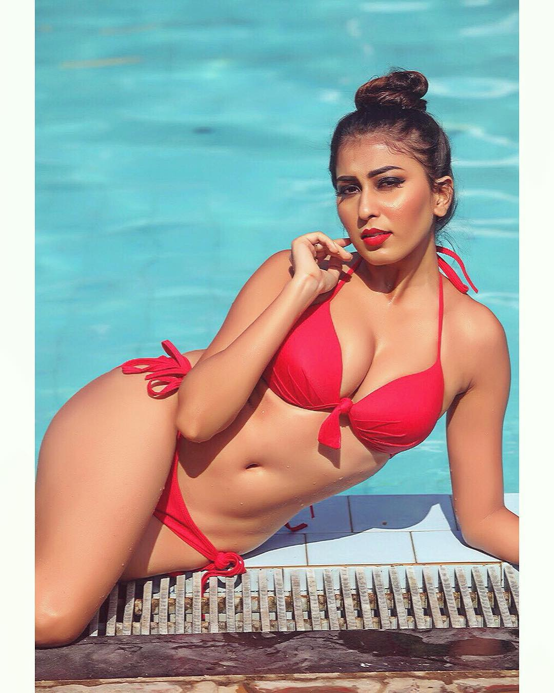 Ruma Sharma in Red Bikini