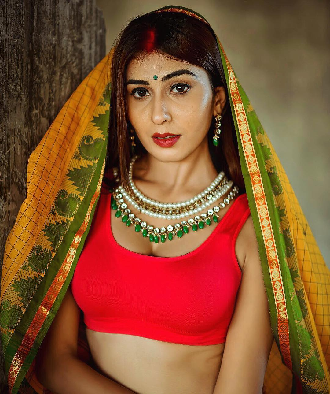 Ruma Sharma saree pic