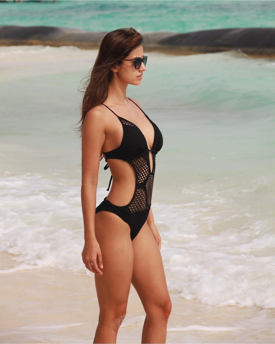 Disha Patani in black bikini
