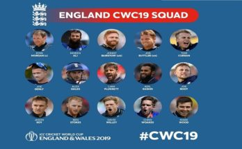 ICC World Cup 2019: England named their 15-man squad led by Eoin Morgan